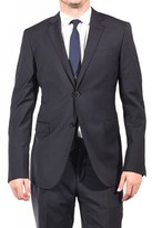 Pierre Balmain Wool Two Button Suit Dark Navy.
