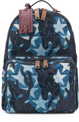 Valentino Camouflage Star backpack