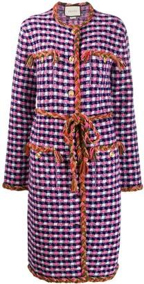 Gucci Knitted Tweed Midi Jacket