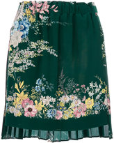 No.21 pleated floral skirt - women - Silk - 38