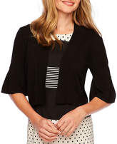 Ronni Nicole 3/4 Bell Sleeve Open-Front Shrug