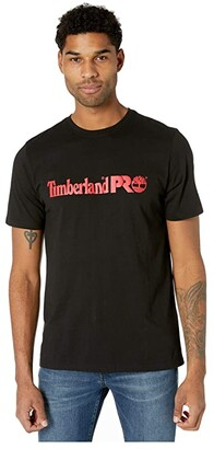 Timberland Base Plate Short Sleeve T-Shirt with Logo (Navy Heather) Men's Clothing