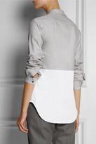 Richard Nicoll Color-block cotton shirt