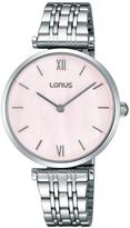 Lorus White Bracelet Pink Mother Of Pearl Dial Ladies Watch