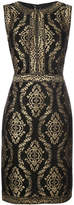 Tadashi Shoji embroidered fitted dress