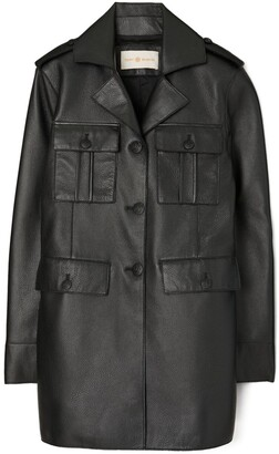 Tory Burch Leather Sgt Pepper Jacket