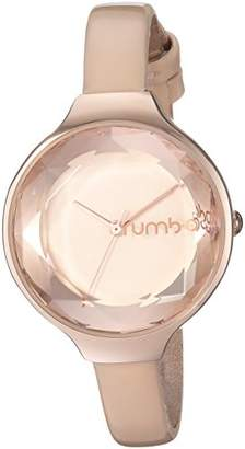 RumbaTime Women's Orchard Gem Patent Japanese-Quartz Watch with Leather Strap