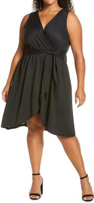 Bobeau Rowan Sleeveless Faux Wrap Dress