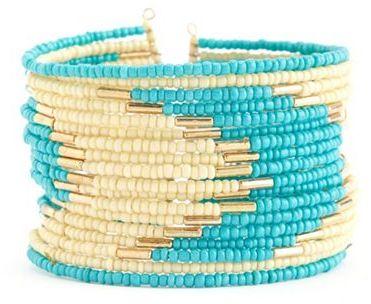 Charlotte Russe Tribal Seed Bead Cuff Bracelet