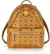 MCM Cognac Small Dual Stark Backpack