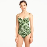 J.Crew Demi underwire one-piece swimsuit in palm leaf print