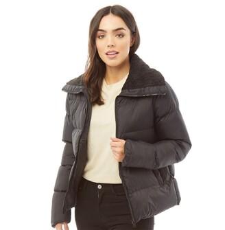 Brave Soul Womens Anna Short Padded Jacket Black