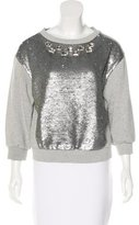 Pinko Embellished Sequined Sweatshirt