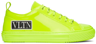 Valentino Green Garavani Patent VLTN Giggies Low-Top Sneakers
