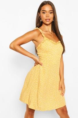 boohoo Ditsy Print Sun Dress