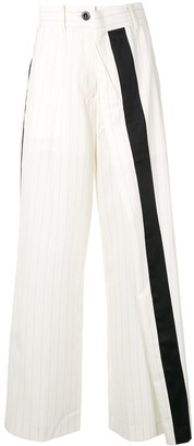 Sacai Asymmetric Striped Trousers