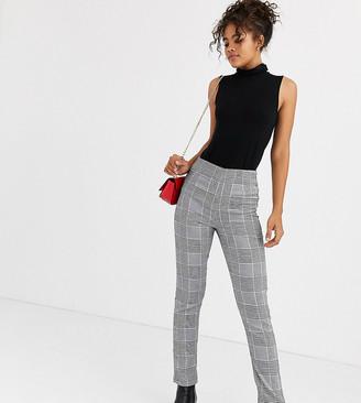 Parisian Tall check tailored slim leg trousers-Multi