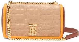 Burberry Lola Quilted-leather Cross-body Bag - Beige Multi
