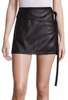 No.21 NO. 21 Faux Leather Side Tie Skirt