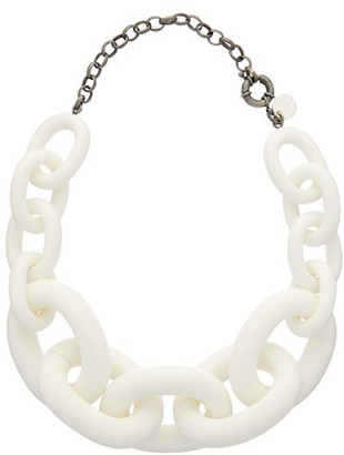 Vanda Jacintho - Exaggerated-chain Choker Necklace - Womens - White