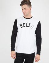Edwin Hello Long Sleeved T-Shirt White/Black