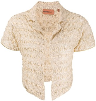 Missoni Mare knitted crinkle cardigan