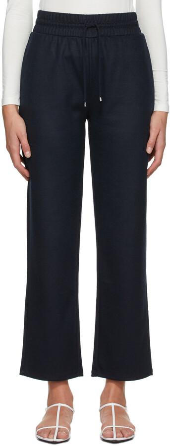 MAX MARA LEISURE Navy Wool Rita Lounge Pants
