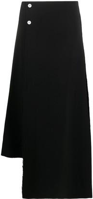Plan C Asymmetric Wrap Skirt