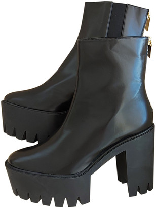 Stella McCartney Black Faux fur Ankle boots