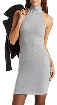 Charlotte Russe Ribbed Turtleneck Bodycon Dress
