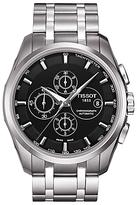 Tissot T0356271105100 Couturier Chronograph Date Bracelet Strap Watch, Silver/black