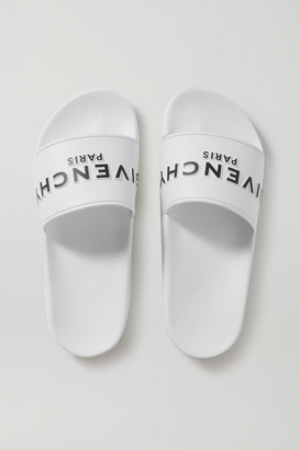Givenchy Logo-print Rubber Slides - White