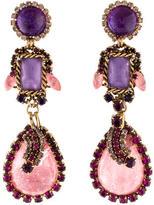 Erickson Beamon Crystal & Lucite Chandelier Earrings