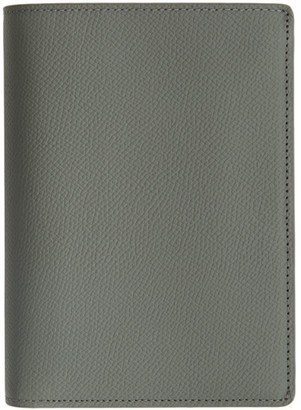 Maison Margiela Grey Leather Trifold Wallet