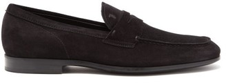 Tod's Suede Penny Loafers - Black
