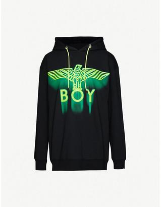 Boy London Ghost logo-print cotton-jersey hoody