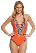 Trina Turk Dashiki VPlunge One Piece Swimsuit - 8157843
