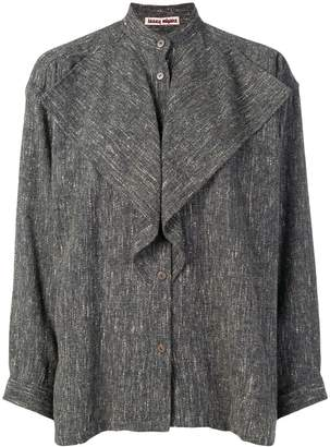 Issey Miyake Pre-Owned frill detail shirt
