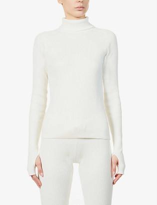 Reebok x Victoria Beckham Ribbed turtleneck stretch-knit jumper