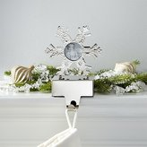 Crate & Barrel Hammered Snowflake Picture Frame Stocking Hook