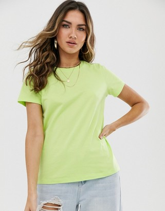 Asos DESIGN ultimate organic cotton crew neck t-shirt in washed lime