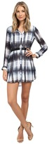 BB Dakota Cahill Ombre Plaid Printed Chiffon Dress