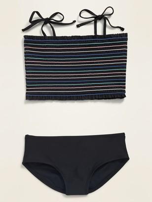 Old Navy Smocked Tie-Shoulder Tankini Swim Set for Girls