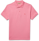 Burberry Slim-fit Cotton-piqué Polo Shirt - Pink