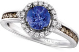 LeVian Le Vian Chocolatier® Tanzanite (5/8 ct. t.w.) and Diamond (3/8 ct. t.w.) Ring in 14k White Gold