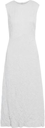Maison Margiela Cutout Crinkled-woven Midi Dress