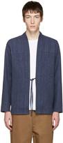 Naked & Famous Denim SSENSE Exclusive Indigo Kimono Shirt