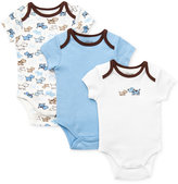 Little Me Baby Boys' Cute Puppies 3-Pack Bodysuits