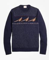 Brooks Brothers Pheasant-Motif Lambswool Sweater