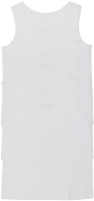 M&Co Lace trim cotton vests three pack (2-10yrs)